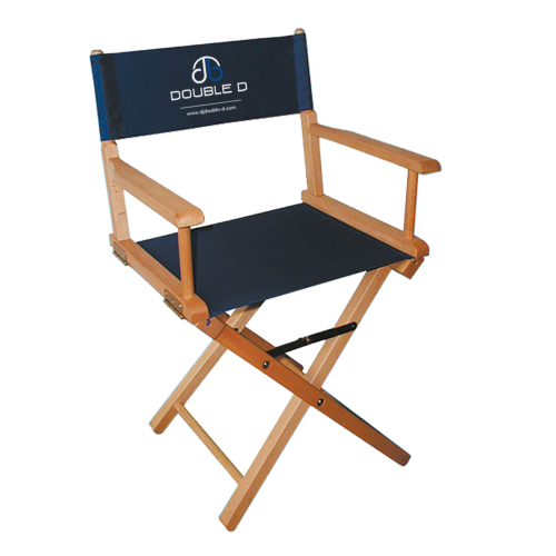 Bedruckter Regiestuhl aus Holz