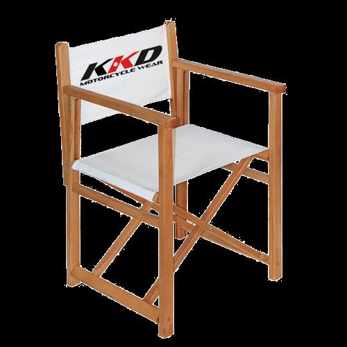 faltbarer stuhl mit bedruckung