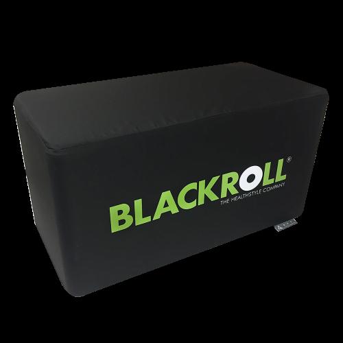 Bedruckbare faltbare Werbebank in schwarz