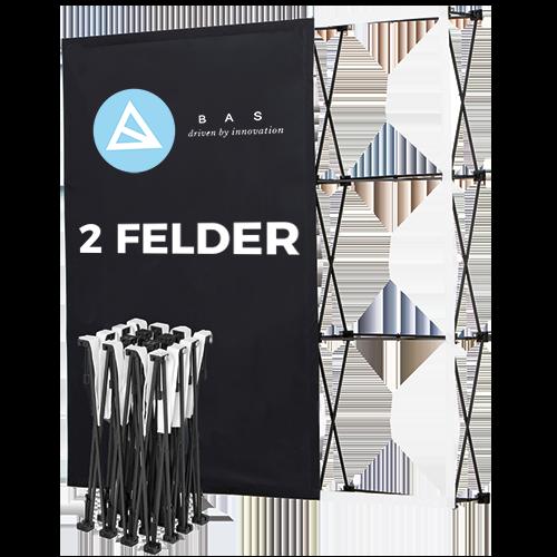 Pop-Up-Messestand Eco 2x3 Felder-Faltwand-Werbewand