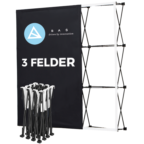 Produktbild Pop-Up-Messestand Eco 3×3 Felder