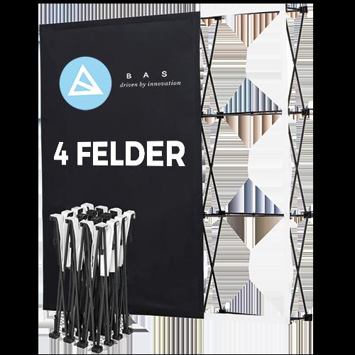 Pop-Up-Messestand Eco 4x3 Felder-Faltwand-Werbewand