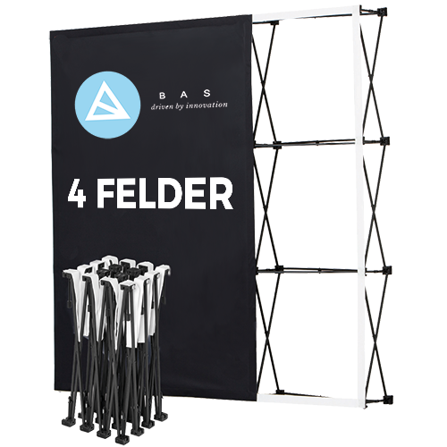 Pop-Up-Messestand Eco 4×3 Felder
