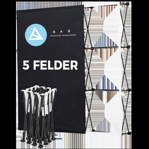 Pop-Up-Messestand Eco 5x3 Felder-Faltwand-Werbewand