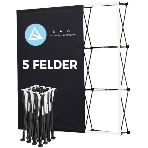 Pop Up Wände Eco 5x3 Felder-Faltwand-Werbewand