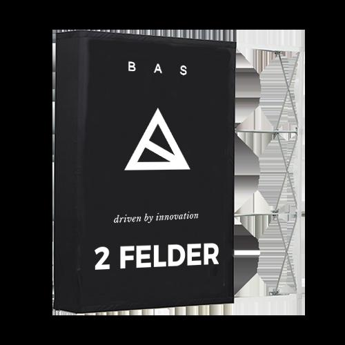 Pop-Up-Messestand Premium 2x3 Felder-Faltwand-Werbewand