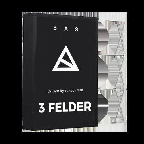 Pop-Up-Messestand Premium 3x3 Felder-Faltwand-Werbewand
