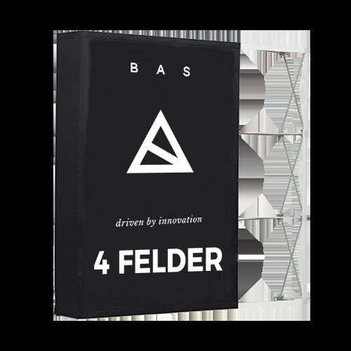 Pop-Up-Messestand Premium 4x3 Felder-Faltwand-Werbewand