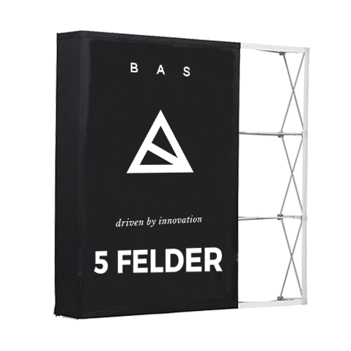 Pop-Up-Messestand Premium 5x3 Felder-Faltwand-Werbewand