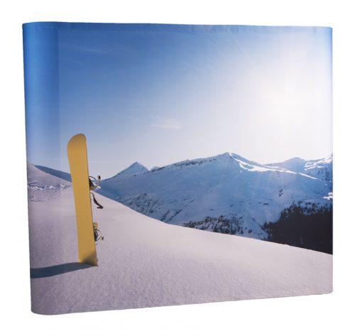 Messestand Premium mit Schnee-Motiv