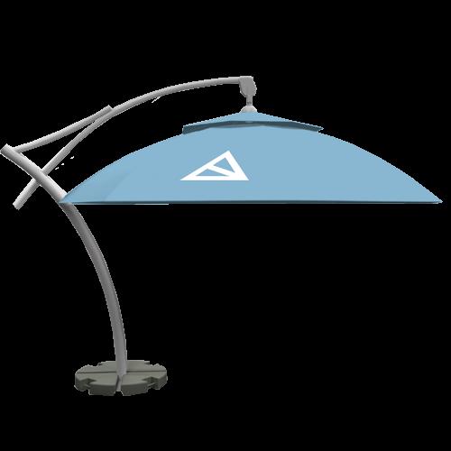 Produktbild Ampelschirm Doppeldach 8 Paneele 4,2m