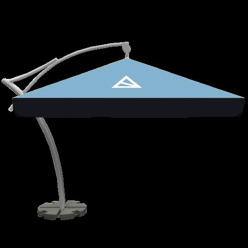 Sonnenschirm Ampelschirm Eckig 3,5×3,5m