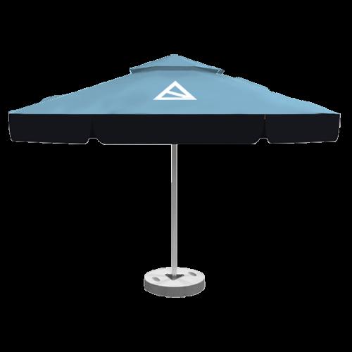 Bedruckter Sonnenschirm mit Doppeldach