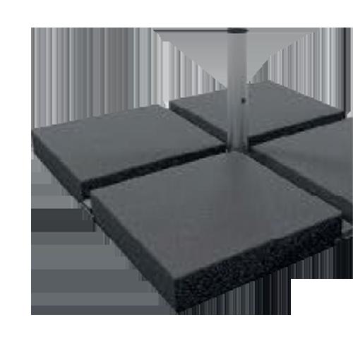 Betonplatte Stand Sonnenschirme 4x4
