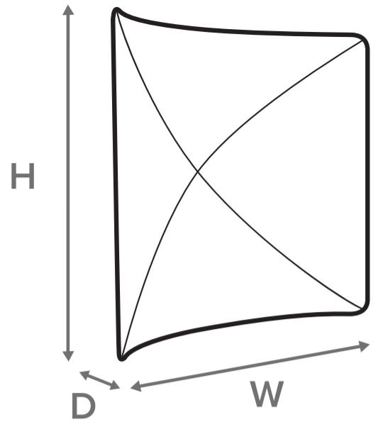 Skizze für Form von gebogener Zipper Wall