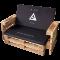 Palettenlounge Sofa bedruckt schwarze Auflage