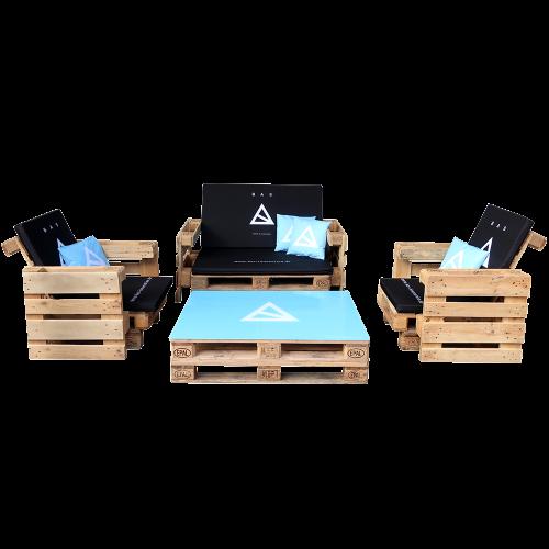 Bedruckte Palettenmöbel - Palettensofa