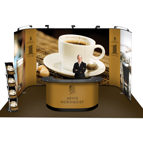Werbetheke mit Kaffeetasse