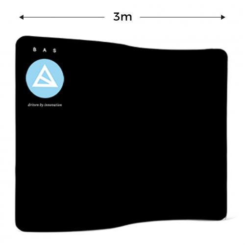 Messewand, Zipper Wall Wave 230×300 cm