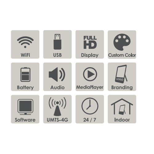 Digitaler Kundenstopper Icons