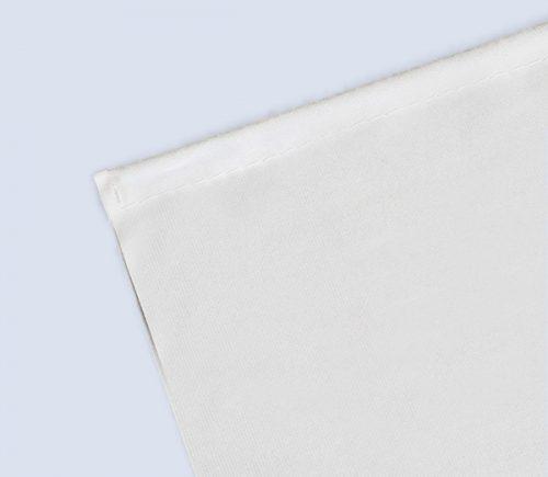 Metallstab Banner weiß