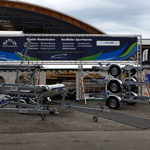 Bedruckter Banner mit Rahmensystem