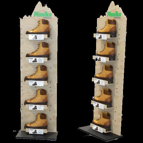 Schuhständer mit Holz und Metall