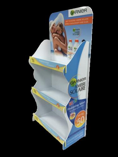 Pappregal für Sonnenschutz