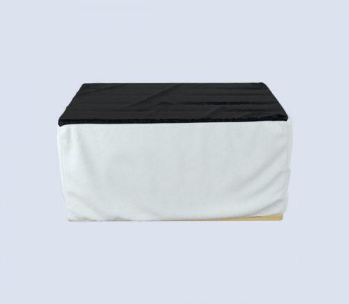 Bedruckbares Palettencover weiß und schwarz