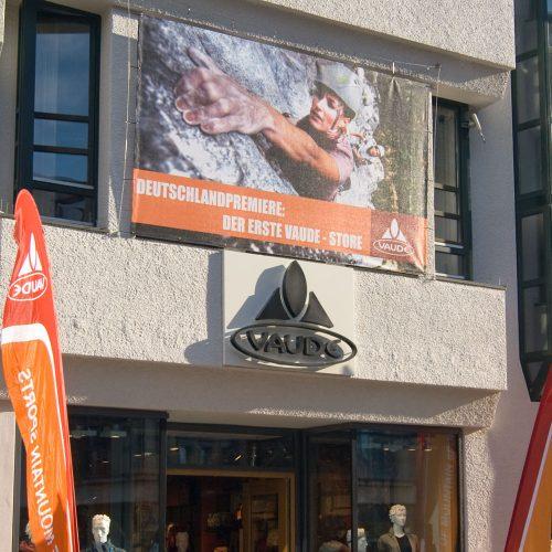 Wetterfester bedruckter Banner