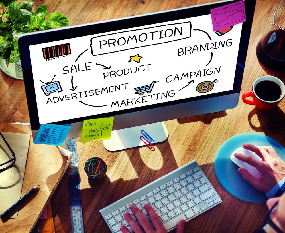 Computer Promotion Schreibtisch