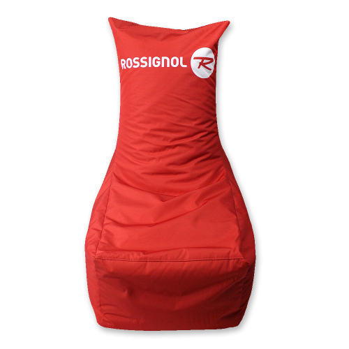 Roter Sitzsack mit Logo