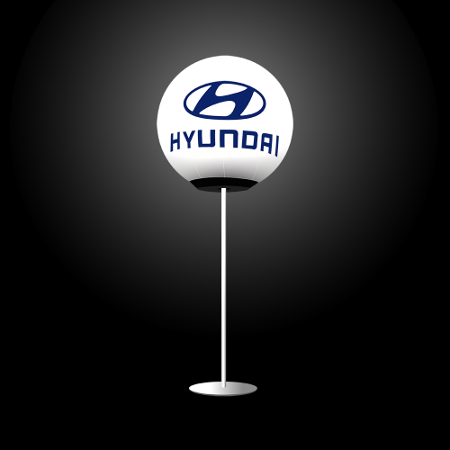 Leuchtender Glow Balloon mit Logo