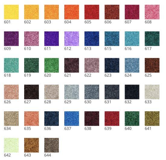 Farben für Schmutzfangmatten mit Logo